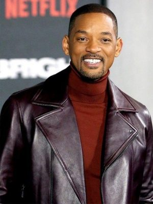 Aladdin Promotion Event American Actor Will Smith Leather Jacket