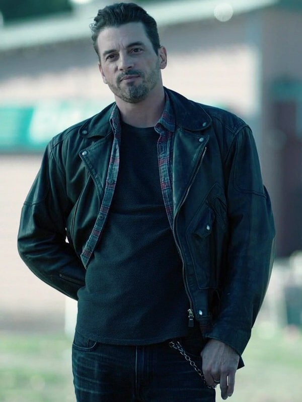 Skeet Ulrich Riverdale Season 04 F. P. Jones Black Leather Jacket