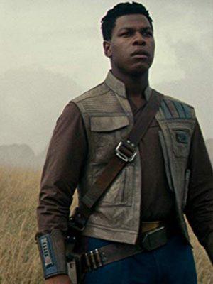 John Boyega Star Wars the Rise of Skywalker 2019 Finn Leather Vest