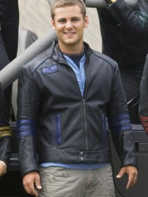 Ari Boyland Power Rangers Rpm Season 01 Flynn Mcallistair Cafe-Racer Leather Jacket
