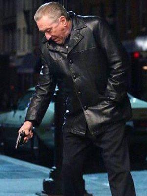 The Irishman Frank Sheeran Black Leather Jacket