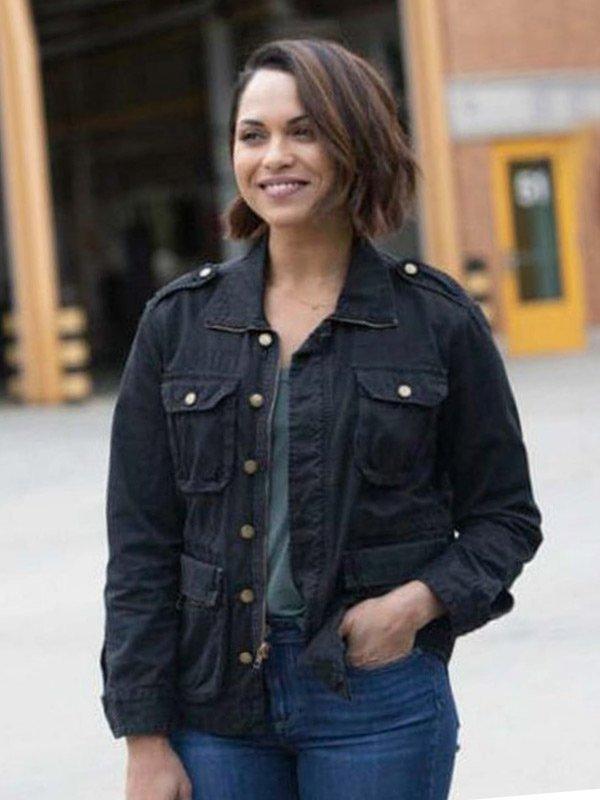 Monica Raymund TV Series Chicago Fire Gabriela Dawson Black Cotton Jacket