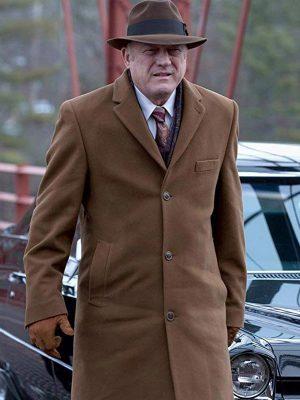 John Doman TV Series Gotham Carmine Falcone Wool Coat