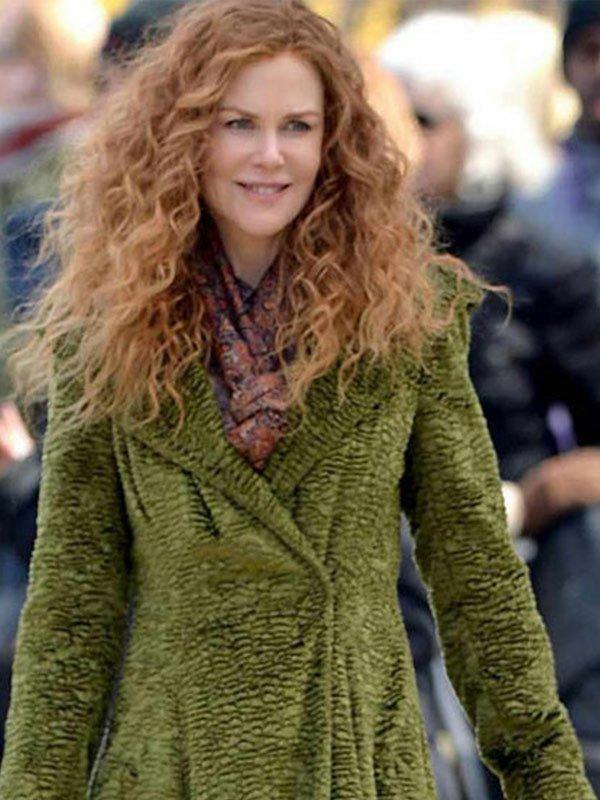 Grace Sachs TV Series The Undoing Season 01 Nicole Kidman Green Long Coat