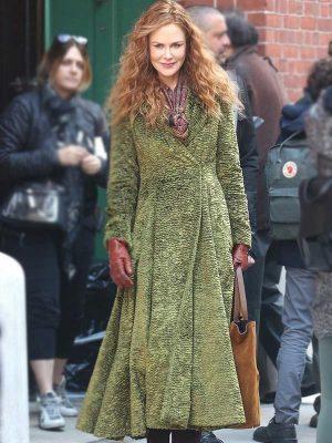Nicole Kidman The Undoing Grace Sachs Green Trench Coat
