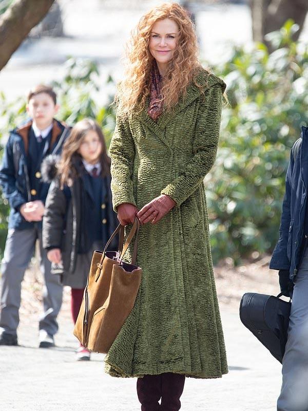 Grace Sachs TV Series The Undoing Season 01 Nicole Kidman Green Coat