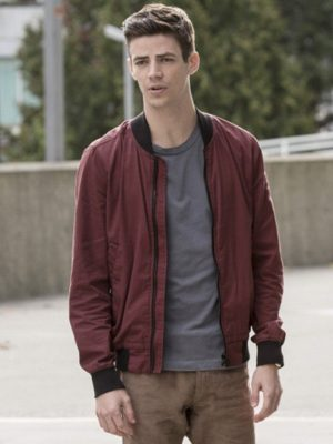 Barry Allen TV Series The Flash Grant Gustin Cotton Bomber Jacket
