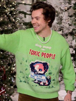 Men Celebrity Harry Styles Stay Away From Toxic People Styles Sweater