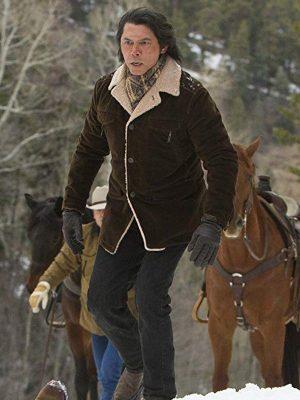 Lou Diamond Phillips TV Series Longmire Brown Shearling Leather Coat