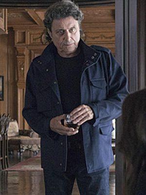 Ian McShane Ray Donovan Andrew Finney Blue Cotton Jacket