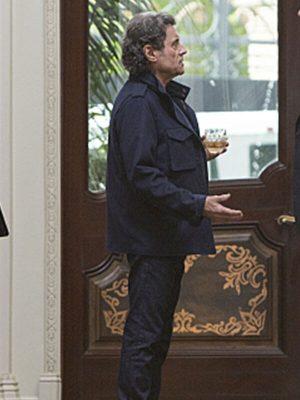 Ian McShane TV Series Ray Donovan Andrew Finney Blue Cotton Jacket