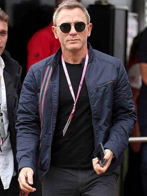 Daniel Craig No Time to Die 2021 Blue Cotton Jacket