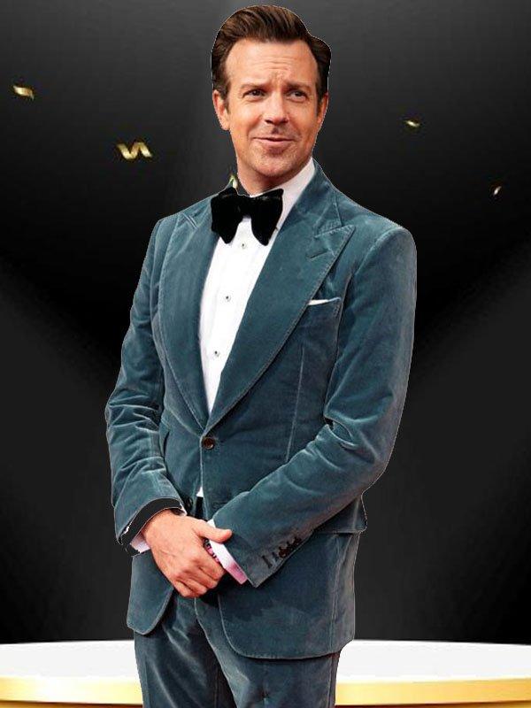 American Actor Jason Sudeikis Blue Blazer Jacket