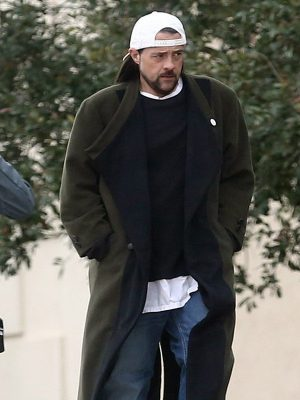 Kevin Smith Jay and Silent Bob Strike Back Black and Green Wool Long Coat