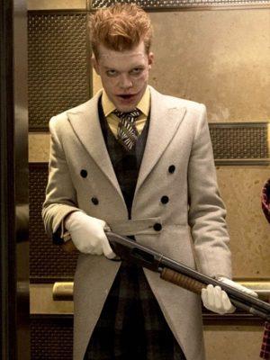Jerome Valeska Gotham Cameron Monaghan Wool Trench Coat