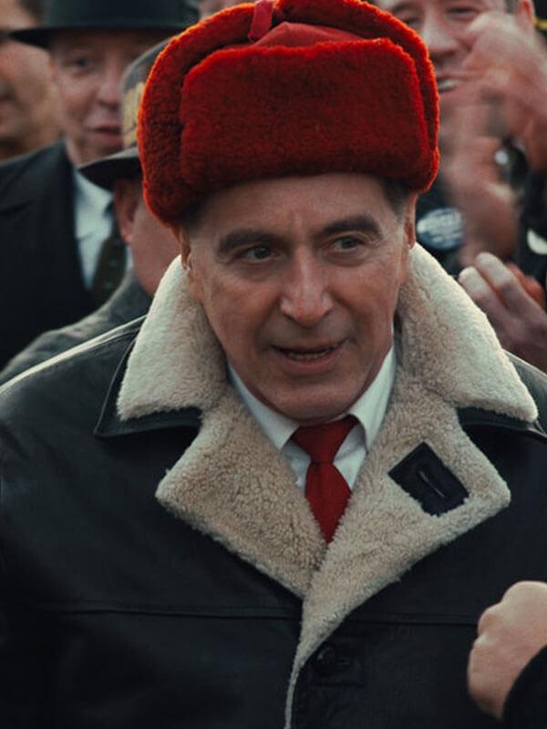 Al Pacino The Irishman 2019 Jimmy Hoffa Shearling Leather Jacket