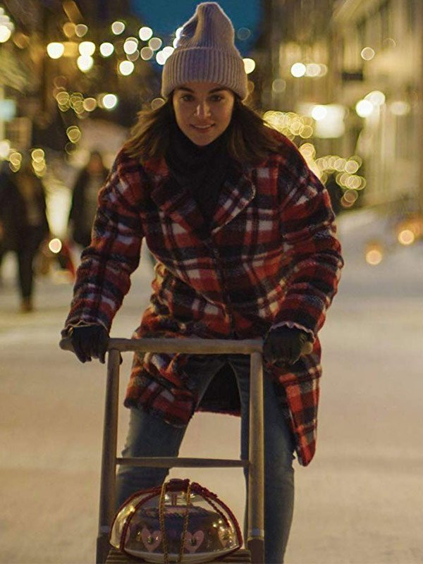 Ida Elise Broch Home for Christmas Johanne Checkered Wool Coat