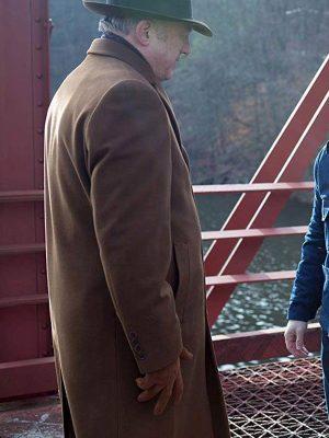 Gotham TV Series John Doman Brown Trench Wool Coat