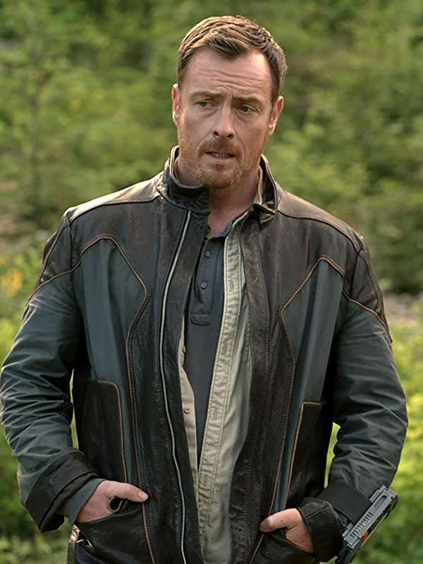 TV Series Lost in Space Toby Stephens Leather Jacket
