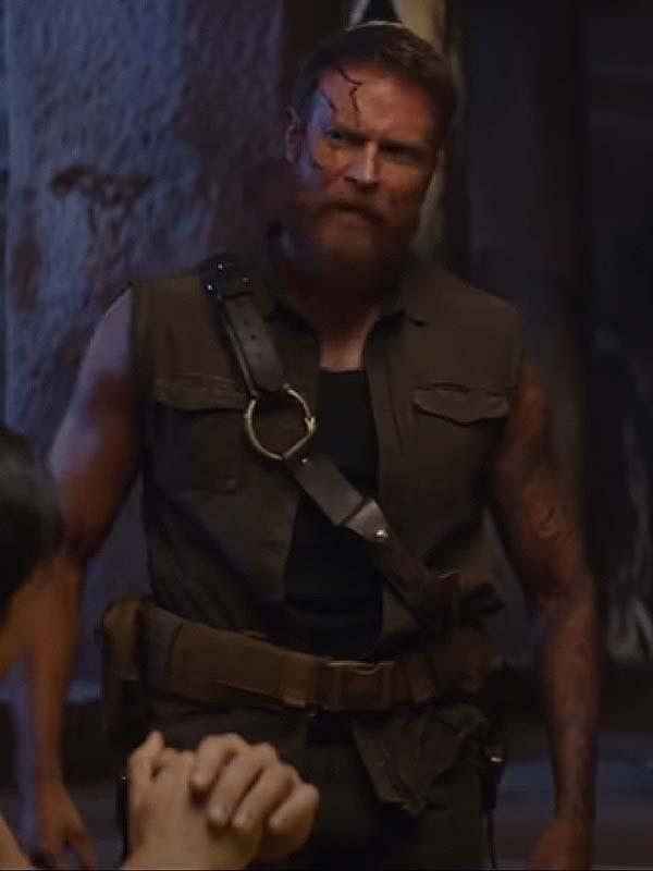 Mortal Kombat Movie 2021 Josh Lawson Black Cotton Vest