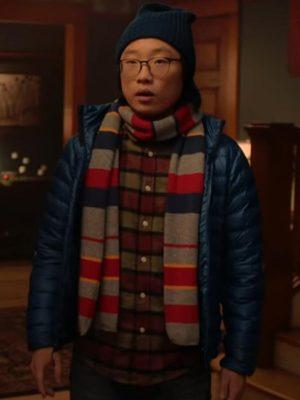 Josh Love Hard 2021 Jimmy O. Yang Parachute Puffer Jacket