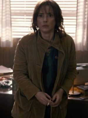 Joyce Byers TV Series Stranger Things Winona Ryder Brown Corduroy Jacket