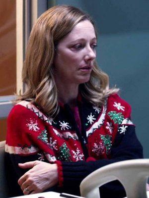 Judy Greer Halloween Kills Karen Woolen Black Multicolor Christmas Sweater