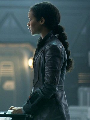 Taylor Russell Lost in Space 2018 Judy Robinson Black Leather Jacket