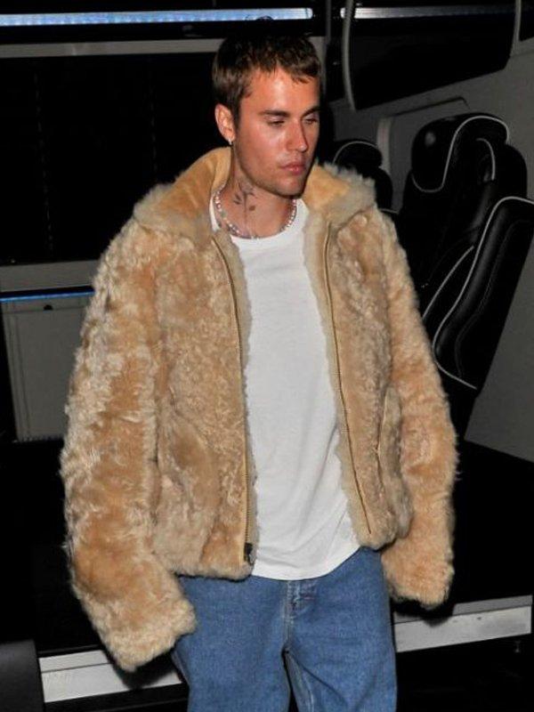 Los Angeles Justin Bieber Faux Fur Jacket