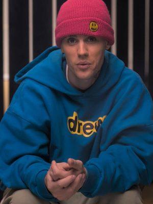 Men Celebrity Justin Bieber Singer Blue Hoodie