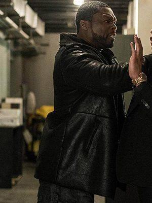 Kana Power Season 05 50 Cent Black Shearling Leather Jacket