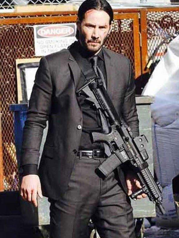 John Wick Chapter 3 Parabellum Keanu Reeves Cotton Black Suit