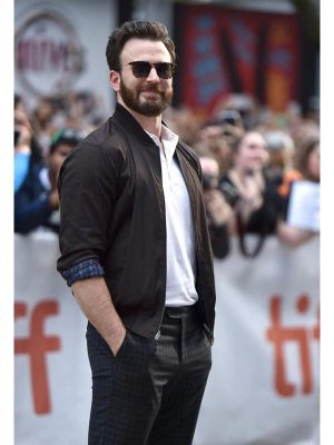 Knives Out Movie Event Chris Evans Brown Cotton Jacket