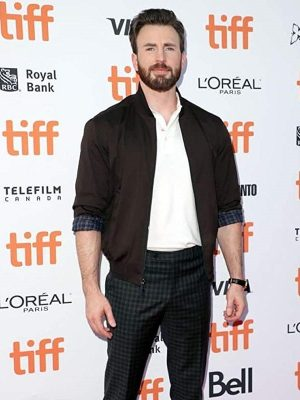 Knives Out Movie Event 2019 Chris Evans Brown Cotton Jacket