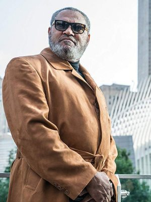 John Wick 3 Laurence Fishburne Brown Leather Trench Coat