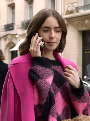 Lily Collins TV Series Emily in Paris Emily Cooper Wool Sweater