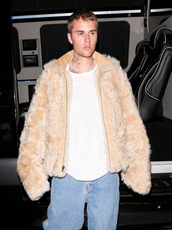 Justin Bieber Faux Fur Jacket