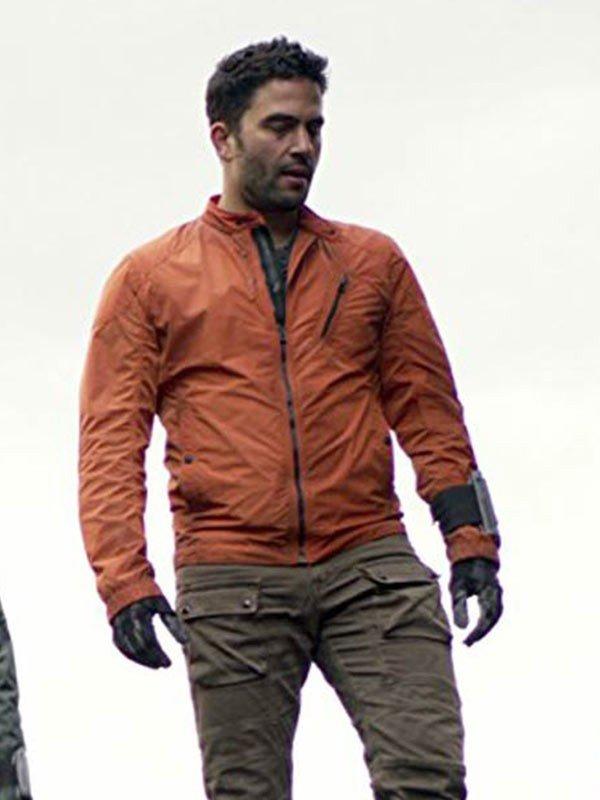 Major Don West Lost in Space 2018 Ignacio Serricchio Orange Jacket