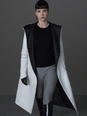 Blade Runner 2049 Sylvia Hoeks White Quilted Leather Jacket