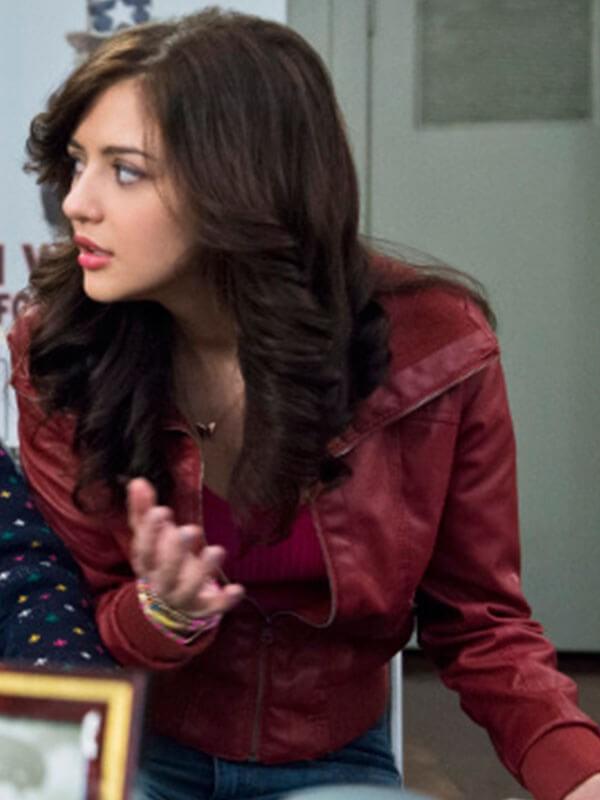 Maggie Landers The Carrie Diaries Katie Findlay Leather Jacket
