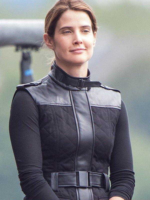 Cobie Smulders Spiderman Far from Home Maria Hill Black Cotton Vest