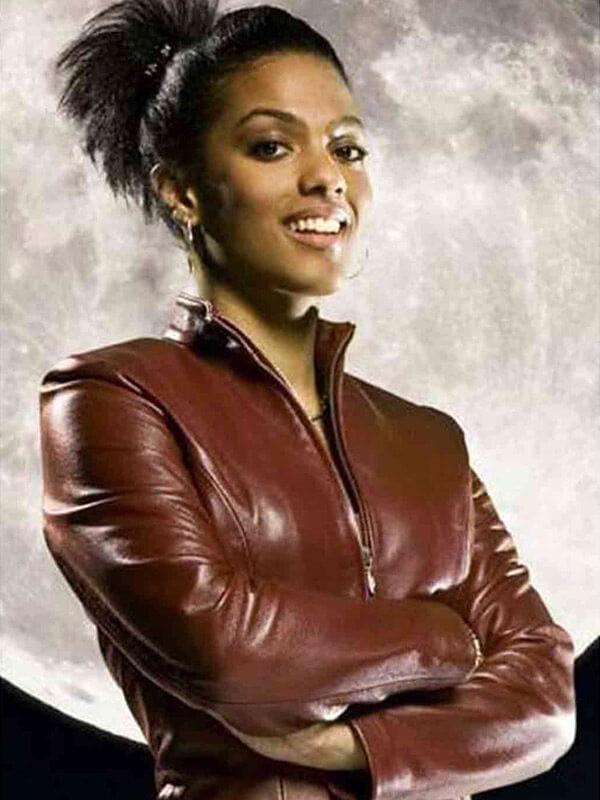 TV Series Doctor Who Freema Agyeman Maroon Leather Jacket