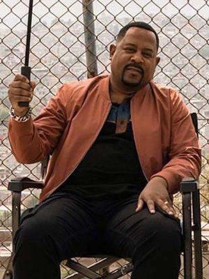 Martin Lawrence Bad Boys for Life Detective Marcus Burnett Bomber Leather Jacket