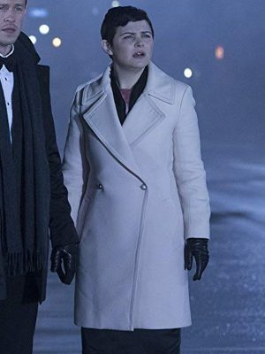 Mary Margaret Blanchard Once Upon a Time Ginnifer Goodwin Leather Trench Coat