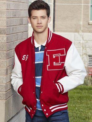E.J. Caswell High School Musical Matt Cornett Wool Bomber Jacket