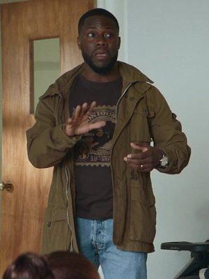 Kevin Hart Fatherhood 2021 Matt Logelin Brown Military Cotton Jacket