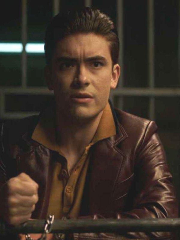 Hiram Lodge Riverdale Season 5 Michael Consuelos Brown Leather Jacket
