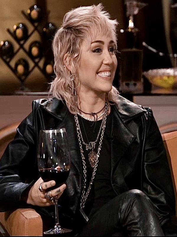 Hart to Heart Miley Cyrus Short Body Biker Leather Jacket
