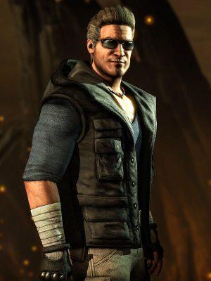 Mortal Kombat X Johnny Cage Black Hoodie Vest