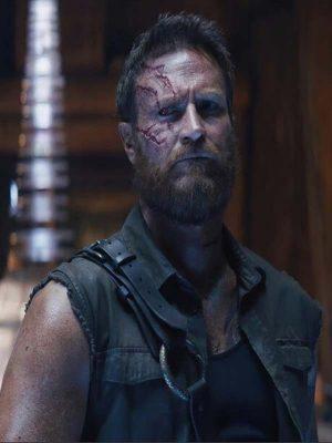 Josh Lawson Movie Mortal Kombat 2021 Kano Black Cotton Vest